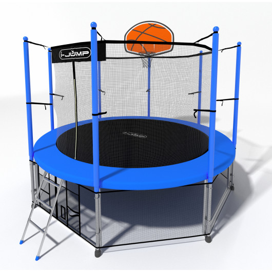 Батут i-jump basket 10ft blue