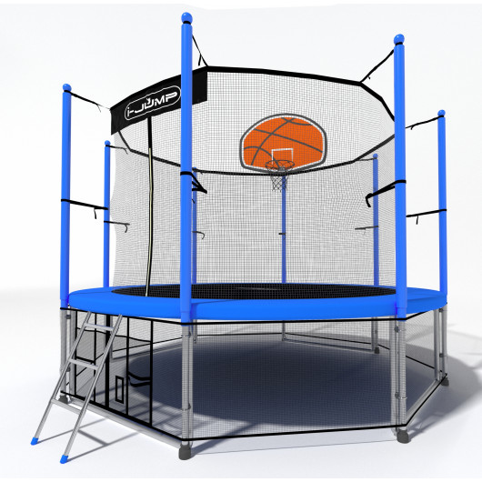 Батут i-jump basket 8ft blue